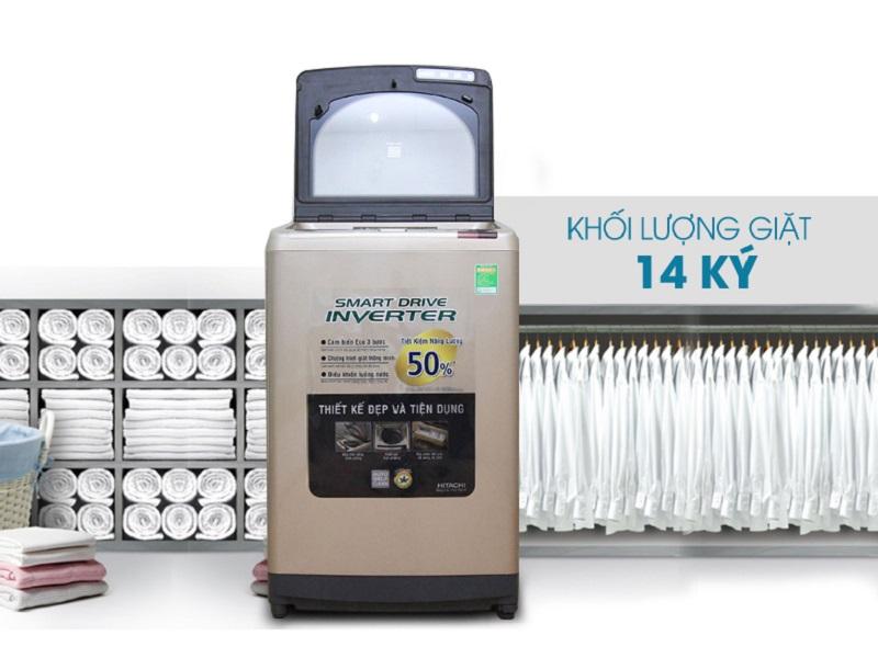 Thiết kế hiện đại của máy giặt Hitachi SF-140XTV hứa hẹn sẽ đem đến cho nội thất căn nhà bạn sự sang trọng và đẳng cấp