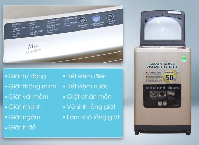 Với số lượng chương trình giặt lớn, người sử dụng máy giặt Hitachi SF-140XTV sẽ dễ dàng hơn trong việc tùy chỉnh các chế độ giặt phù hợp với áo quần