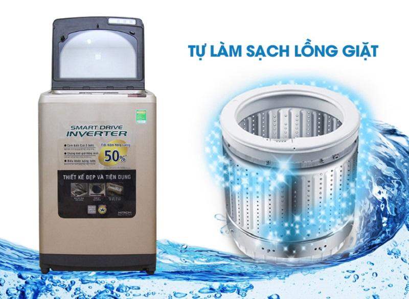 Máy giặt Hitachi SF-140XTV sở hữu công nghệ Auto Self Clean tự làm sạch lồng giặt