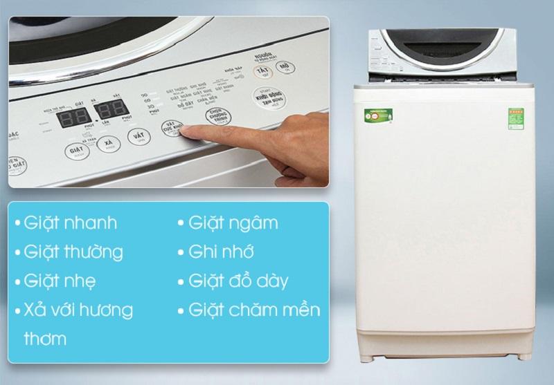 Máy giặt Toshiba AW-DE1100GV(WS) còn có nhiều chương trình giặt khác nhau