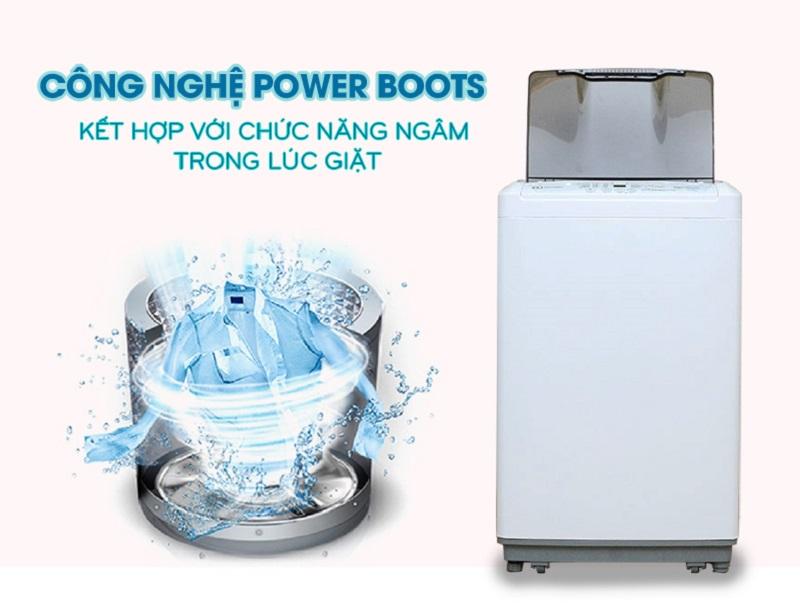 Với chức năng Power Boots có thể vừa giặt vừa ngâm, máy giặt Electrolux EWT754XW sẽ đánh tan những vết bẩn cứng đầu