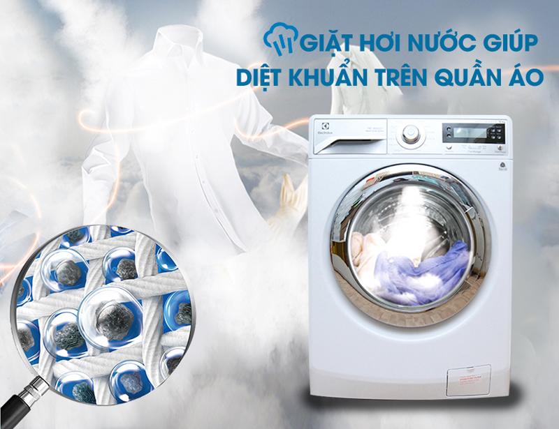 Giặt hơi nước trên Máy giặt Electrolux EWF12932