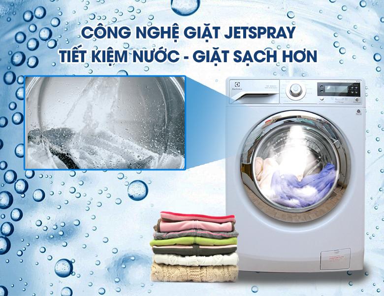Công nghệ giặt phun Jetpray trên máy giặt Electrolux EWF12932