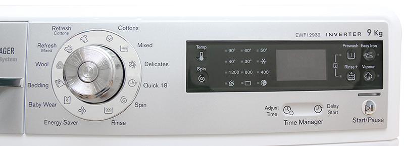bảng điều khiển trên máy giặt Electrolux EWF12932