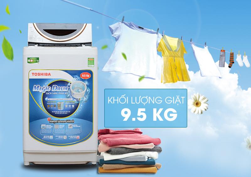 Máy giặt Toshiba ME1050GV(WD) mang nét tinh tế đến từ thiết kế bên ngoài