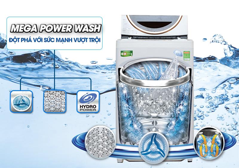 Máy giặt Toshiba ME1050GV(WD) sở hữu mâm giặt Mega Power mới lạ