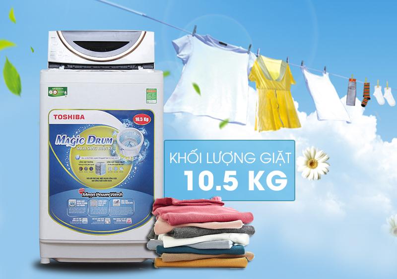 Máy giặt Toshiba ME1150GV(WK) sở hữu bề ngoài sang trọng và độc đáo
