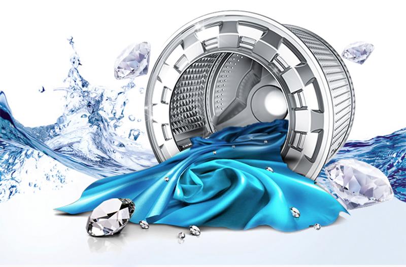 Lồng giặt kim cương hạn chế hư tổn quần áo
