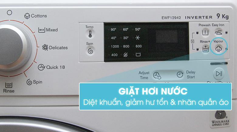 Chức năng giặt hơi nước tiện lợi