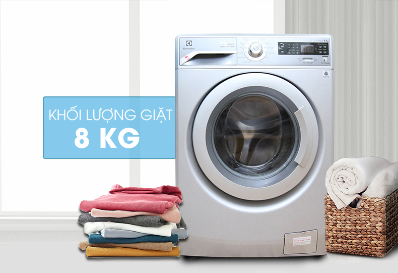 Máy giặt Electrolux EWF12832S 8 kg với thiết kế hiện đại