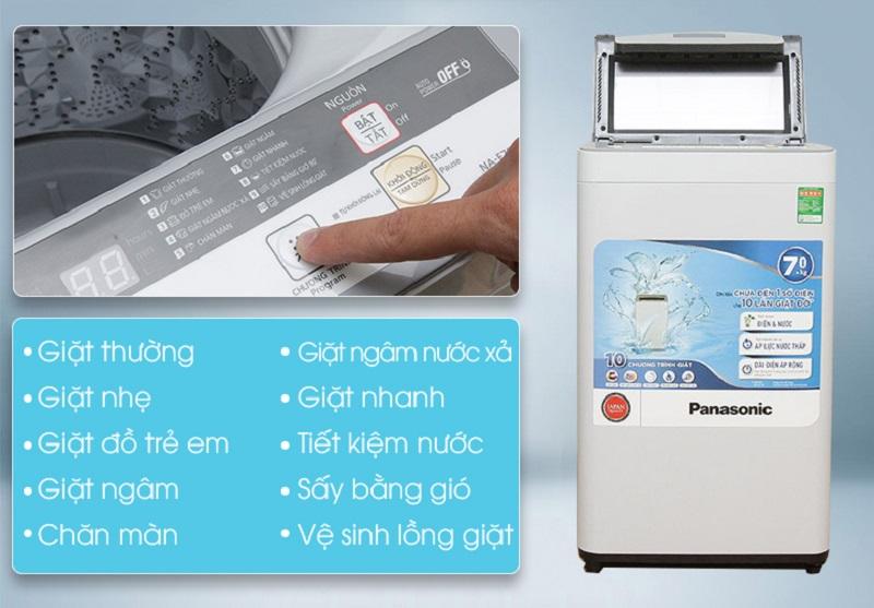 Máy giặt Panasonic NA-F70VS7HRV mang đến 10 chương trình giặt đa dạng