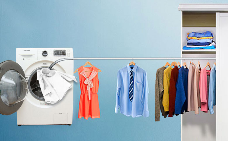 Sấy khô quần áo nhanh chóng