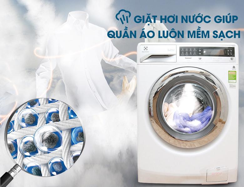 Công nghệ giặt hơi nước kháng khuẩn hiện đại