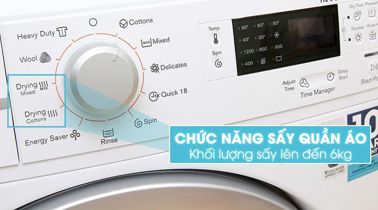 Máy giặt được tích hợp chức năng sấy quần áo
