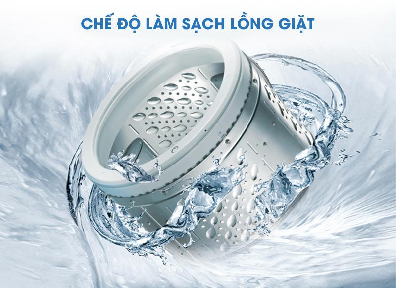 Máy giặt sấy Panasonic NA-VX93GLWVT không chỉ giúp làm sạch áo quần mà còn có thể tự vệ sinh được lồng giặt với 4 quá trình khác nhau