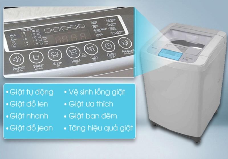 Với 8 chương trình giặt khác nhau, tùy vào chất liệu vải hay mức độ bám bẩn và khối lượng của quần áo, người dùng có thể chọn một chế độ giặt phù hợp trong máy giặt LG WF-S1015DB