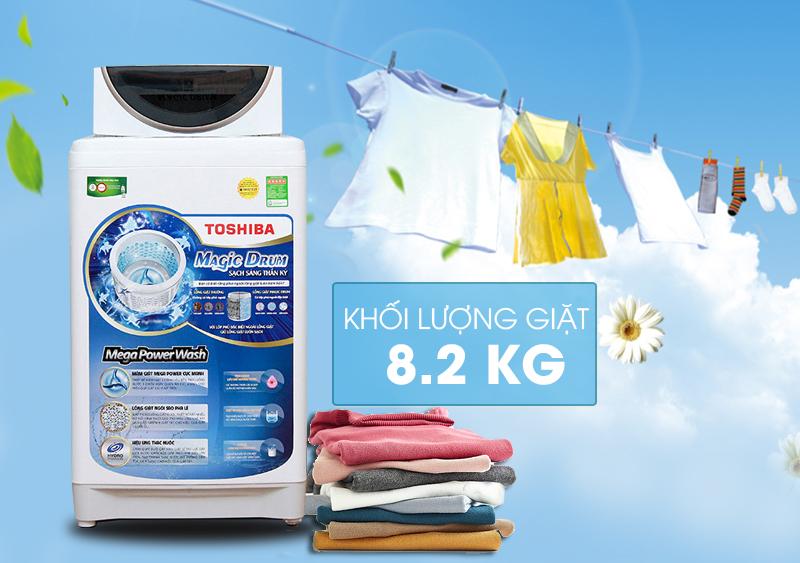Sở hữu vẻ ngoài độc đáo, máy giặt Toshiba AW-MF920LV WK sẽ đem đến cho nội thất nhà bạn một góc nhà thật đẹp