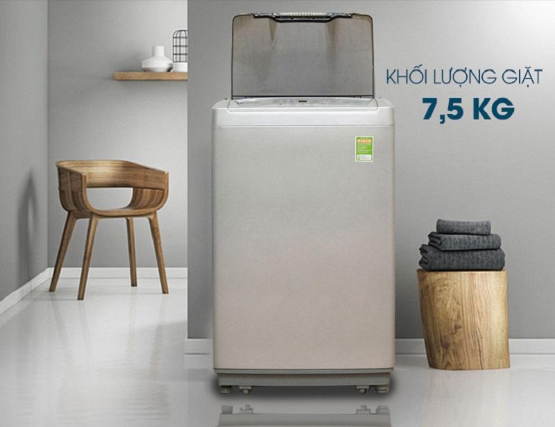 Máy giặt Electrolux EWT754XS sở hữu thiết kế mới lạ, gọn gàng nhưng không kém phần tinh tế và hiện đại