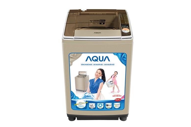 Máy giặt Aqua AQW-U125ZT S – Thiết kế vuông vức, chắc chắn, hiện đại