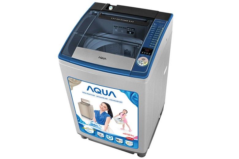 Máy giặt Aqua AQW-U105ZT - Thiết kế vuông, vững chắc, nắp đậy trong suốt