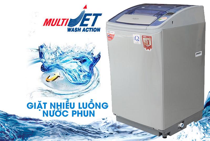 Máy giặt Aqua AQW-F800Z2T S có công nghệ giặt Multi Jet