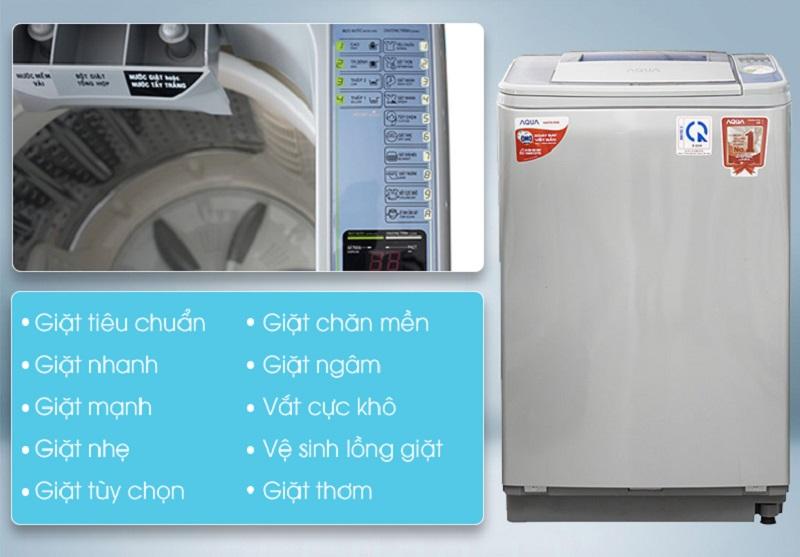 Máy giặt Aqua AQW-F800Z2T S có nhiều chương trình giặt khác nhau