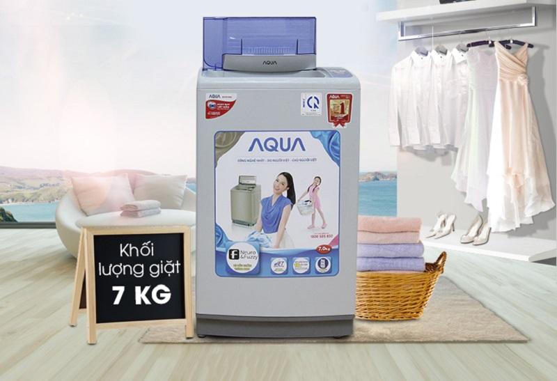 Thiết kế máy giặt Aqua AQW-S70V1T H khá trang nhã với gam màu nhẹ nhàng