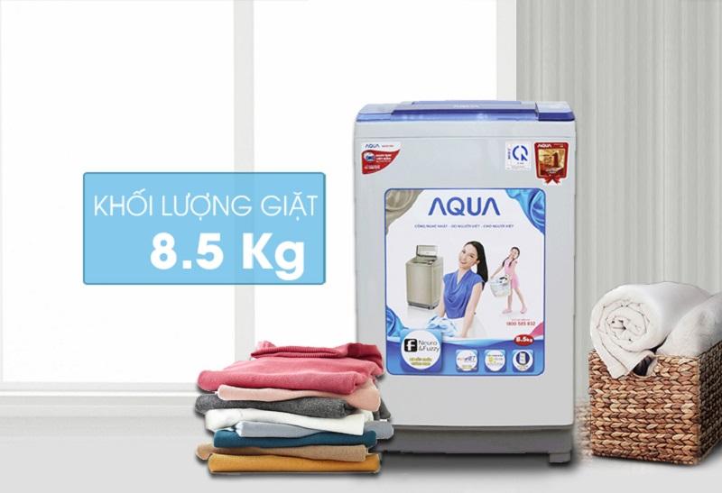 Với thiết kế trang nhã, máy giặt Aqua AQW-S85ZT hứa hẹn tô điểm thêm cho sự tinh tế ở kiến trúc nội thất nhà bạn