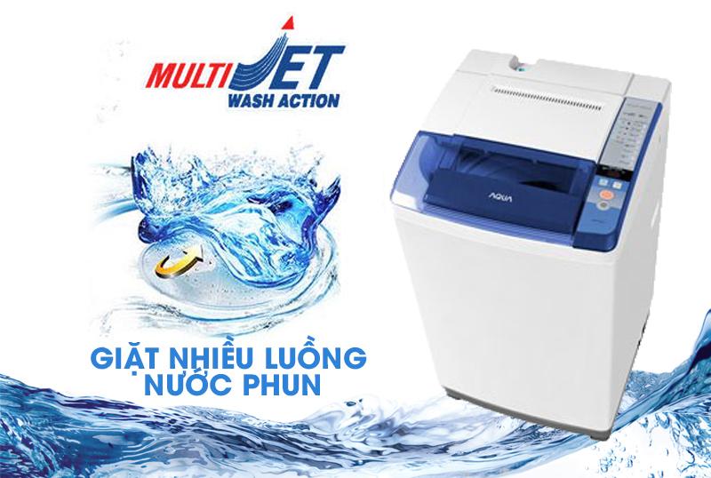 Máy giặt Aqua AQW-S85ZT với công nghệ Multi Jet nhiều luồng nước mạnh mẽ