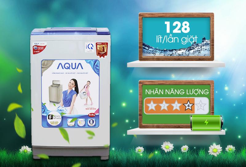 Với tính năng tiết kiệm điện và tiết kiệm nước, máy giặt Aqua AQW-S85ZT có thể giúp gia đình bạn giữ thêm được một khoản tiền tiết kiệm