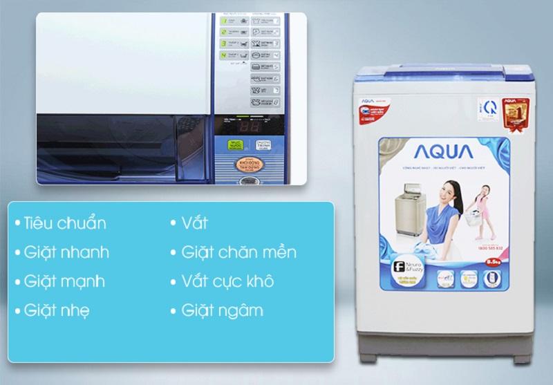 Tốc độ xoay vòng của lồng giặt Aqua AQW-S85ZT khá cao