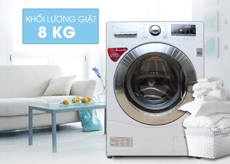 Máy giặt LG F1208NPRW được thiết kế với kiểu dáng khá là sang trọng và hiện đại