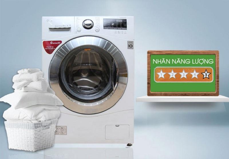 Kết hợp với Inverter Direct Drive, gia đình bạn sẽ tiết kiệm được một khoản chi phí không nhỏ nhờ máy giặt LG F1208NPRW
