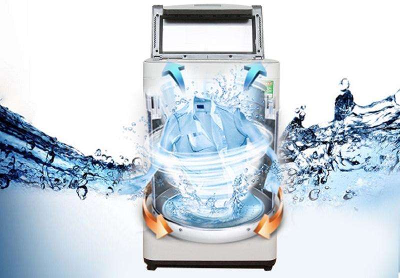 Máy giặt Panasonic 7 kg NA-F70VS7HCV có tốc độ vắt cao, kết hợp với chế độ sấy 90 phút