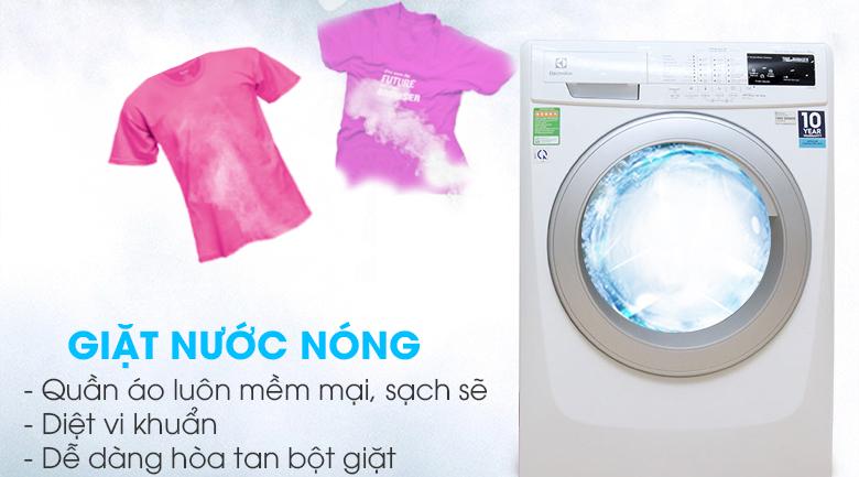 Giặt nước nóng - Máy giặt Electrolux 8 kg EWF12843