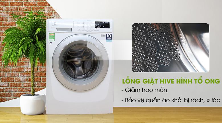 Lồng giặt HIVE hình tổ ong - Máy giặt Electrolux 8 kg EWF12843