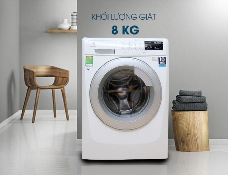 Có kiểu dáng hiện đại phối hợp cùng gam màu trắng thanh nhã, máy giặt Electrolux EWF12843 sẽ tô điểm thêm cho sự tinh tế trong thiết kế căn nhà của bạn