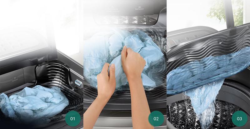 Hệ thống Activ Dualwash tích hợp khay giặt tay