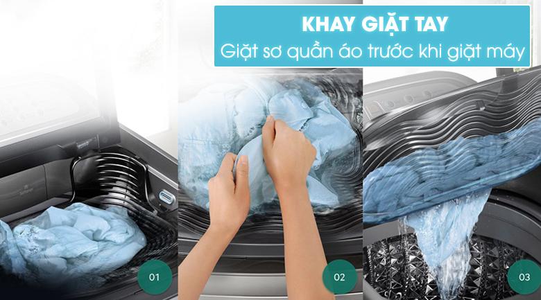 Công nghệ Active Dual Wash với khay giặt tay kết hợp