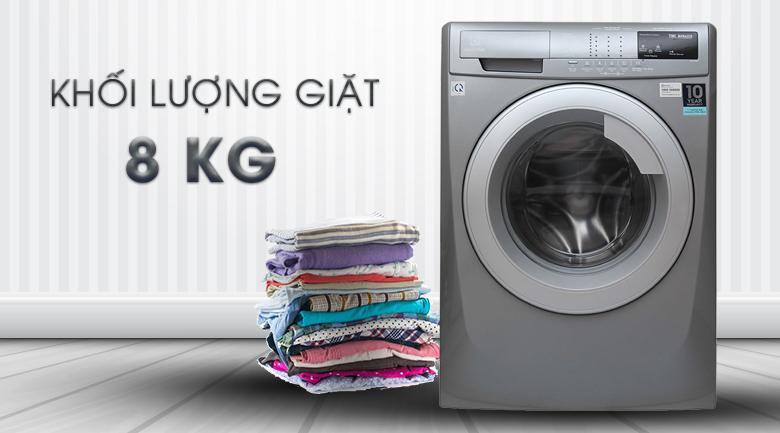 Khối lượng giặt 8 kg - Máy giặt Electrolux Inverter 8 kg EWF12844S