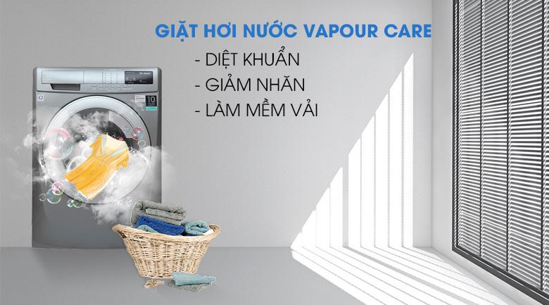 Giặt hơi nước Vapour Care - Máy giặt Electrolux Inverter 8 kg EWF12844S