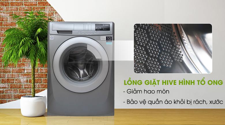 Lồng giặt HIVE tổ ong - Máy giặt Electrolux Inverter 8 kg EWF12844S