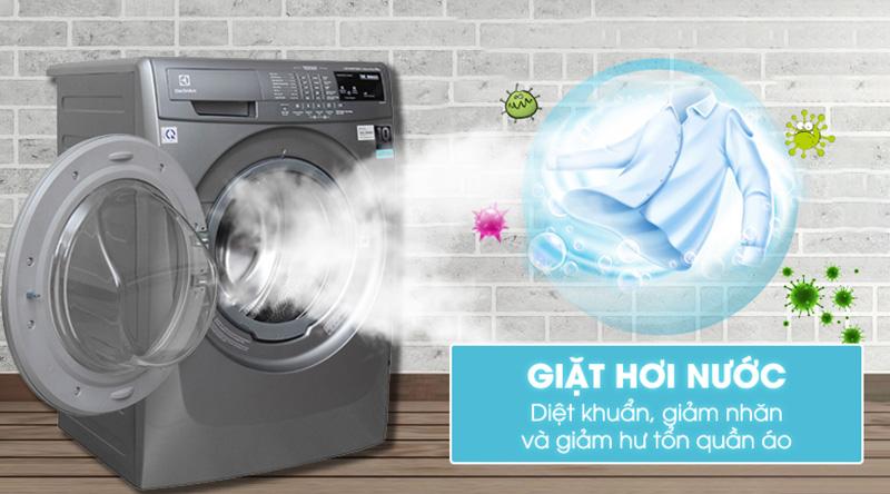Máy giặt Electrolux EWF12844S giặt hơi nước diệt khuẩn giảm nhăn