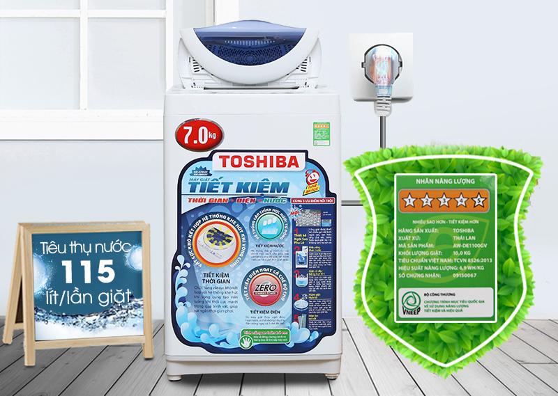 Với máy giặt Toshiba AW-A800SV WB, bạn sẽ tiết kiệm được kha khá tiền bạc