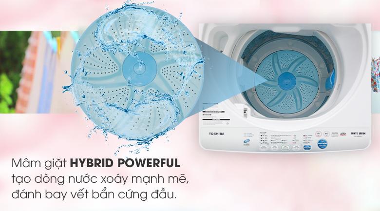 Mâm rửa Hybrid Powerful của máy giặt Toshiba AW-A800SV WB có 2 cánh không đối xứng