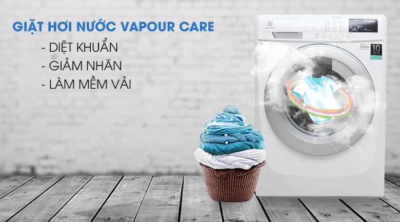 Chức năng giặt hơi nước - Máy giặt Electrolux Inverter 7.5 kg EWF10744
