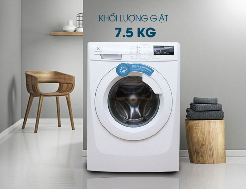 Máy giặt Electrolux EWF10744 có thiết kế tinh tế và đẹp mắt