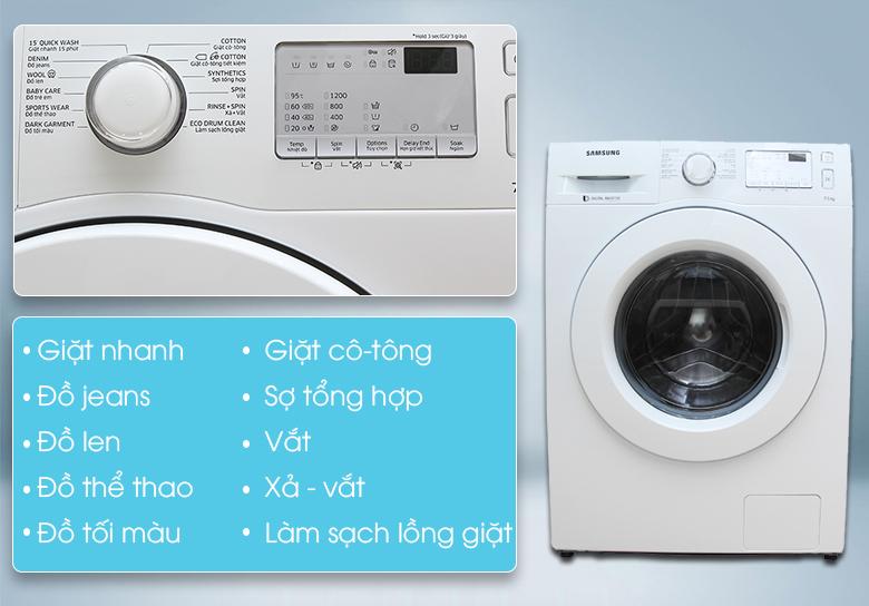 Đa dạng chương trình giặt, phù hợp với nhu cầu người sử dụng