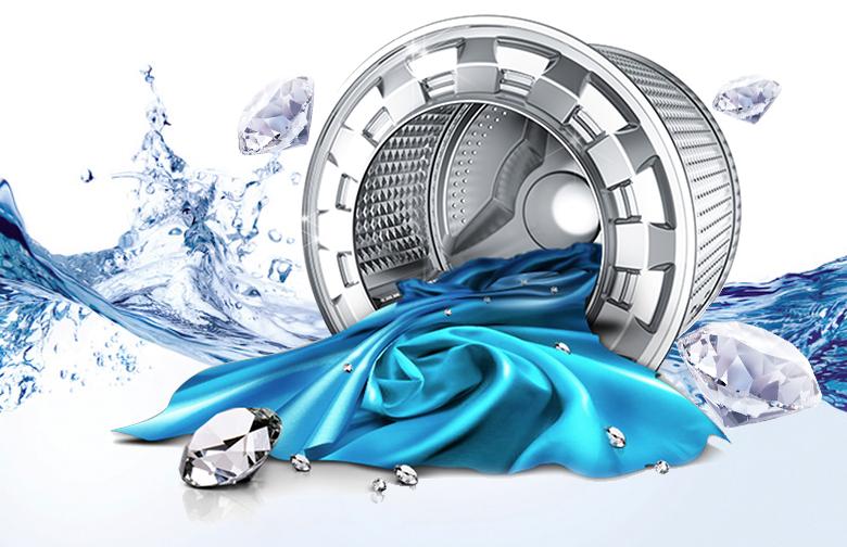 Lồng giặt kim cương tăng cường hiệu quả giặt sạch