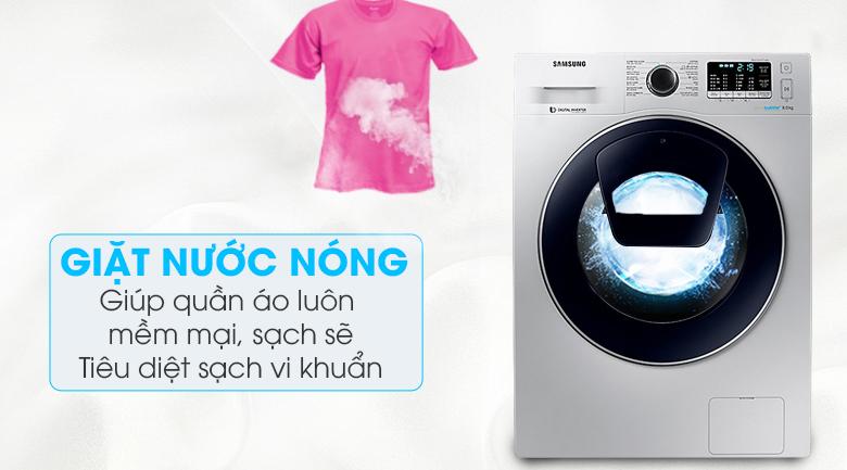 Chế độ giặt nước nóng - Máy giặt Samsung AddWash Inverter 8 kg WW80K5410US/SV